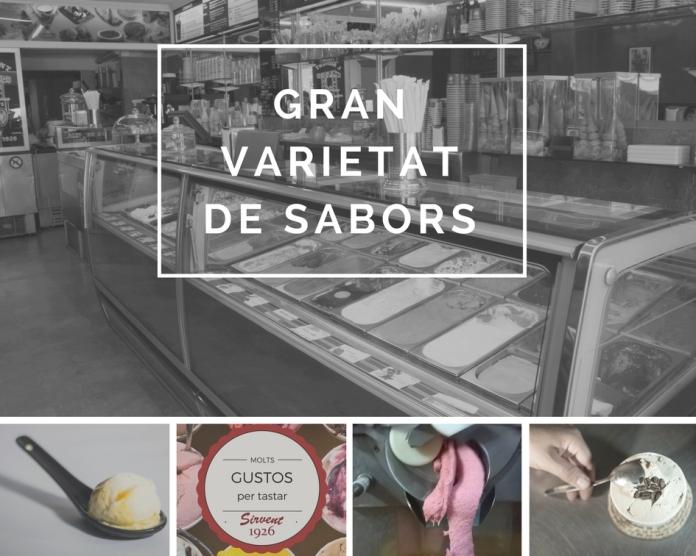 Gran varietat de gelats, a Sirvent 1926, Barcelona