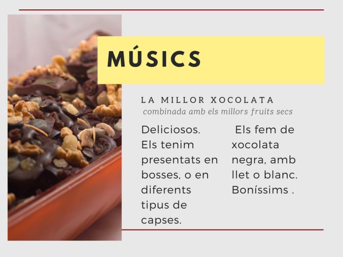 Músics de xocolata, Sirvent 1926 Barcelona