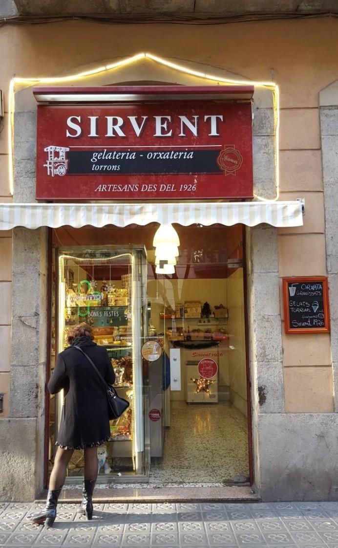 Sirvent 1926, Orxateria torronería artesanal a Barcelona, carrer Provença 135.